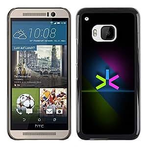 YiPhone /// Prima de resorte delgada de la cubierta del caso de Shell Armor - Neon Color Minimalist - HTC One M9