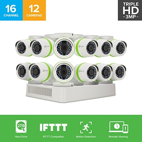 EZVIZ Outdoor 3MP Video Security Surveillance System, 12