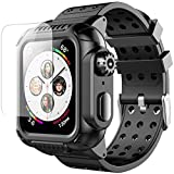 Apple Watch 4 Case 44mm with Band(2018), Oterkin Rugged Watch 4 Case with Strap Band Built-in Screen Protector Full Body Protective Case for Apple Watch Series 4(44mm) Shockproof/Anti-Scratch and More