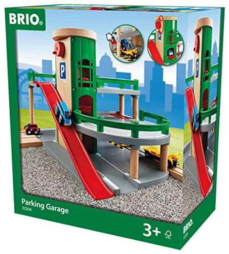 BRIO World - 33204 Parking Garage | Railway Accessory with Toy Cars for Kids Age 3 and Up (Best Childrens Toy Garage)