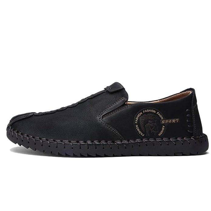 COOLCEPT Herren Bequeme Slip On Freizeit Flach Loafers Schuhe (38 AS, 22 Gold)