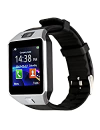 Kivors DZ09 Bluetooth Smart Watch Phone WristWatch Fit for Smartphones IOS Apple iphone Android Samsung /HTC Sony Blackberry and Other Andriod Phone (Silver-Black)