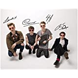 The Vamps Autographed Signed A4 21cm x 29.7cm Poster Photo by DS