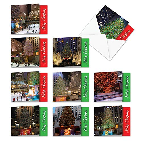 10 Boxed & Assorted 'NY Christmas' Holiday Cards (4