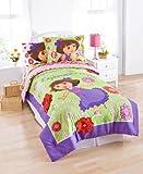 "Nickelodeon Dora The Explorer ""Picnic"" Comforter with Sham, Twin"
