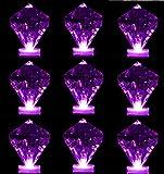 Bright Led Underwater Submersible Waterproof Floral Decoration Tea Light Candle for Wedding/Party / Xmas Decoration (Diamond Shape Purple 24pcs)