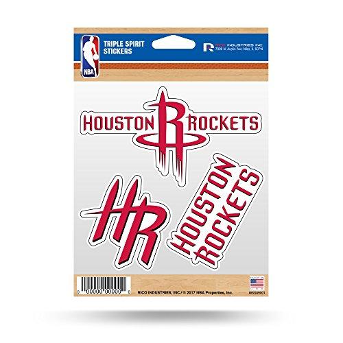 NBA Houston Rockets Die Cut 3-Piece Triple Spirit Sticker Sheet