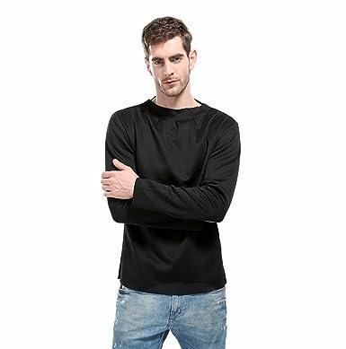 Zarupeng Herren Herbst Spezielle Kragenart und Weise Shirt Langarm  Einfarbig Pullover Hemd (M, Schwarz d73da6180a
