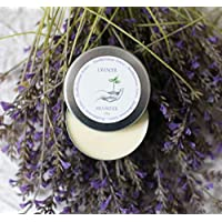 Handmade Natural Vegan Lavender Ivory Shea Body Butter, 3.5 oz