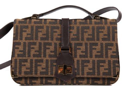 1668c1464c53 Fendi women s leather cross-body messenger shoulder bag zucca - Buy Online  in UAE.