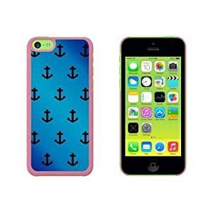 Ahoy Nautical Boat Theme Blue Snap On Hard Protective For SamSung Galaxy S5 Phone Case Cover - Pink