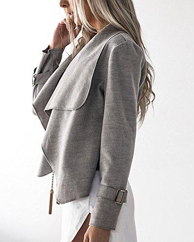 Asym Manches Longues Blazer Large Femme Lapel 8Pwqq