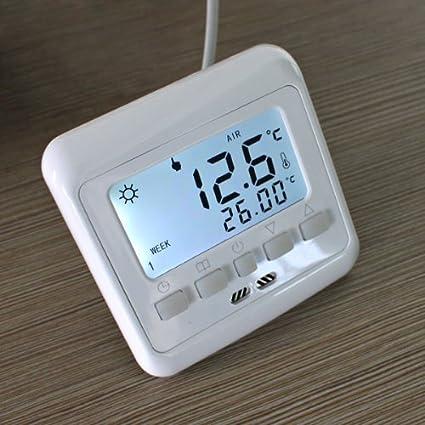 FLOUREON byc08.h3 Digital semanal programable termostato pantalla LCD termostato de calefacción pantalla táctil termostato