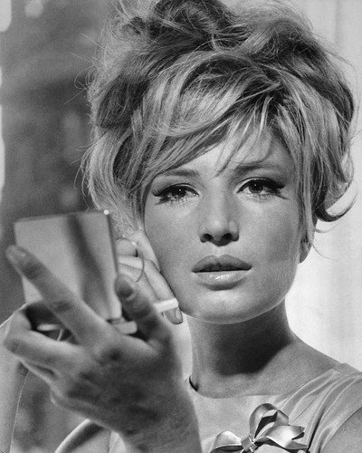 Monica Vitti holding compact mirror 11x14 Promotional ()