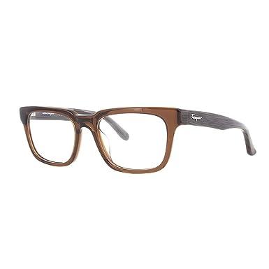 Óculos de Grau Salvatore Ferragamo Sf2736 210 54 Marrom  Amazon.com ... 765654f84c