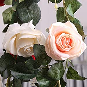 Artificial Flowers - Artificial Flowers 1.8 M N Rose Rattan Wedding Decoration Home - White Outside Violet Magnolia Real Turquoise Tulips Dusty Mixed Orange Purple English Lavender Quality Fe 77