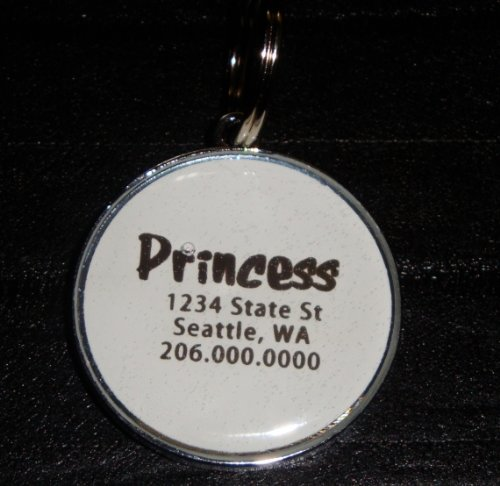 Custom Swarovski Rhinestone Pet ID Tag **YOU CHOOSE THE COLORS**