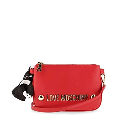 f4c83c7c1 Amazon.com: Moschino Love Moschino Women's Logo Scarf Tie Shoulder Bag Red  One Size: Shoes