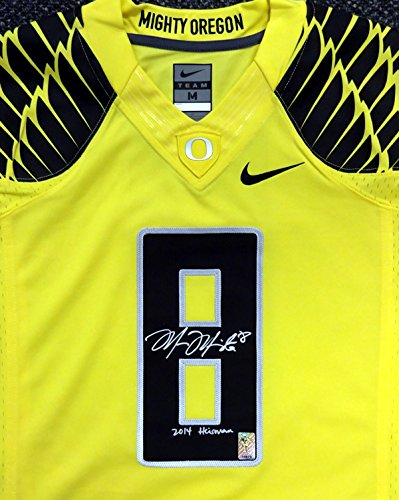 Wholesale Marcus Mariota Autographed Yellow Nike Jersey Oregon Ducks 2014  free shipping