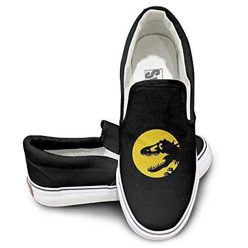 Deamoon Dinosa Fashion Unisex Flat Canvas Shoes Sneaker Black 42