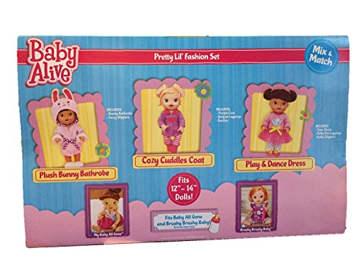 Baby Alive 3 Pack Outfits One Size - Pretty Lil Fashion ...