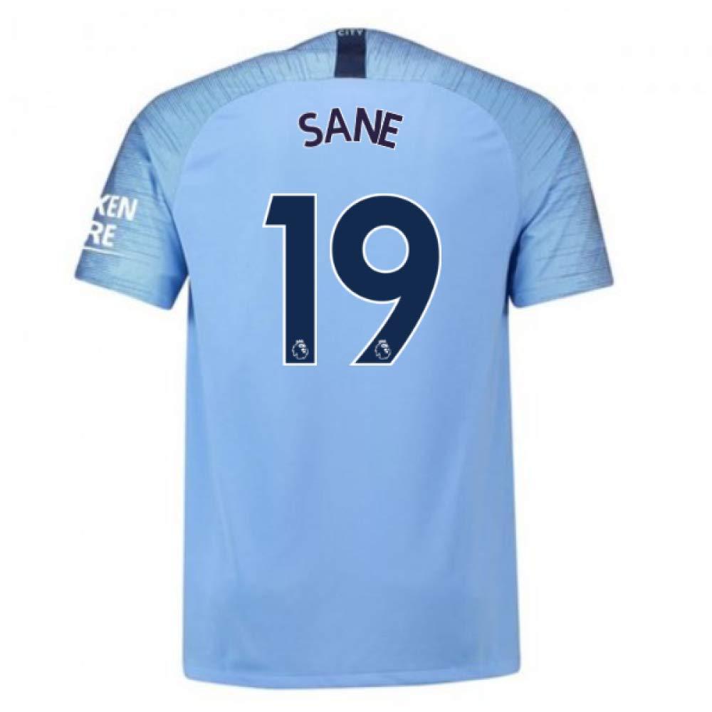2018-2019 Man City Nike Vapor Home Match Football Soccer T-Shirt Trikot (Leroy Sane 19)