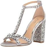 Jewel Badgley Mischka Women's Carver Dress Sandal, Silver, 7 M US
