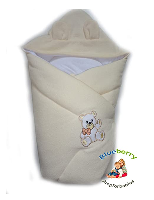 Amazon.com: BlueberryShop Hooded Thermo Terry for CAR SEAT Swaddle ...