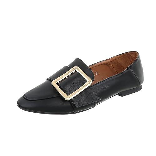 Zapatos para Mujer Mocasines Tacón Ancho Slip-on Negro Tamaño 40: Amazon.es: Zapatos y complementos