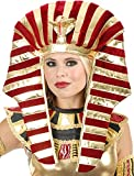 Gold And Burgundy Red Wine King Tut Pharaoh Egyptian Costume Headpiece Set 40 w