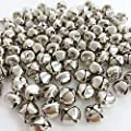 SBYURE Jingle Bells,400 Count Craft Bells,DIY Bells for Wreath, Holiday Home Decoration,Christmas Festival Decoration and DIY Art Crafts (Silver, 1/2 Inch)