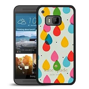 Unique Designed Kate Spade Cover Case For HTC ONE M9 Black Phone Case 205