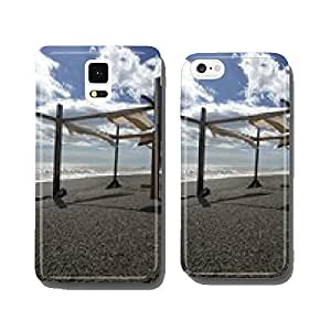 Remains of the hut by the sea in late summer cell phone cover case iPhone6
