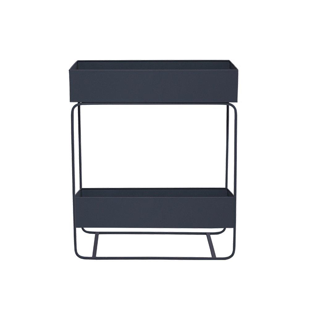 FEIFEI フラワースタンドフラワーラックリビングルーム鍛鉄フラワーシェルフ室内フロアプランターラックグリーンルオローシンプルなバルコニープラントスタンド (色 : 03) B07DQG6RMQ 3 3