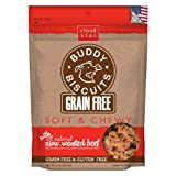 Cloud Star Grain Free Soft & Chewy Buddy Biscuits Dog Treats, Slow Roasted Beef 5 oz (141 g) (Pack of 4) Review