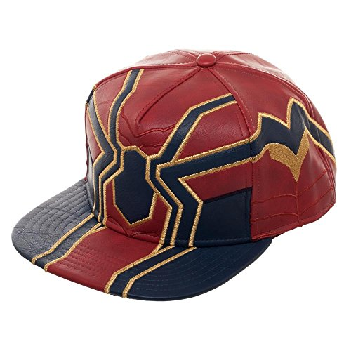 Movie Spiderman Snapback Hat, Avengers Suit Up Faux Leather Hat, Infinity War