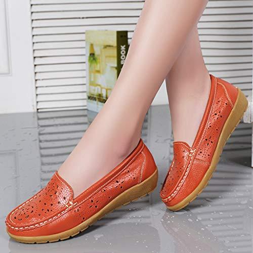 Resistente Suave Desodorización Baja Planos Respirable Ayuda Naranja Desgaste Solos Al Antideslizante Zapatos Lzw SZ5qxpxv
