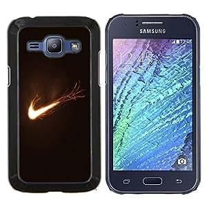 For Samsung Galaxy J1 J100 Case , Flaming Logo- Diseño Patrón Teléfono Caso Cubierta Case Bumper Duro Protección Case Cover Funda