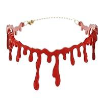 Westeng Halloween Choker collier ras de cou en Résine Effet Cicatrice Sanglant collier tour de cou Cosplay pour femme