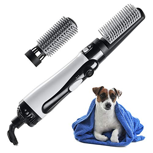 mothermed Dog Hair Dryer with Slicker Brush 3 in 1 Portable Home Pet Hair Style Grooming Blower with...