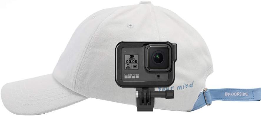TELESIN Baseball Hat Mounts Clip Fast Release Body Mount Bundle for Gopro Hero 8, Hero (2018), Hero 7, Hero 6/5/4/3+ Session 4/5, Fusion, Xiaomi Yi 4K, DJI OSMO Action Camera Accessories