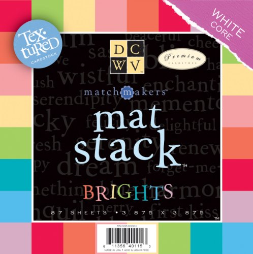 (Match Makers Textured Brights Mat Stack 3.875