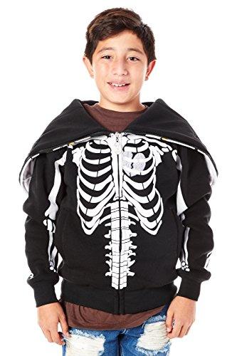 Boys Kids Children Youth Great Spider Man Mask Zipper Hoodies (12, Black (HK91010))