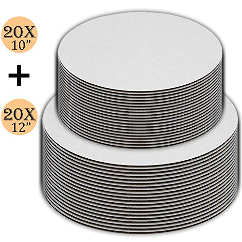 - Cake Boards set of 40, Cake Boards 10 inch, and Cake Boards 12 Inch, 20 of each, Cake Board, Cake Base, Cardboard Cake Rounds, Cake Circles.