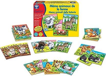 Animales de granja de memoria - juego de memo 2-4 años: Amazon.es: Juguetes y juegos