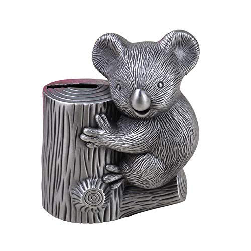 Colias Wing Home Decor-Koala Shape Stylish Design Coin Bank Money Saving Bank Toy Bank Cents Penny Piggy Bank-Sliver