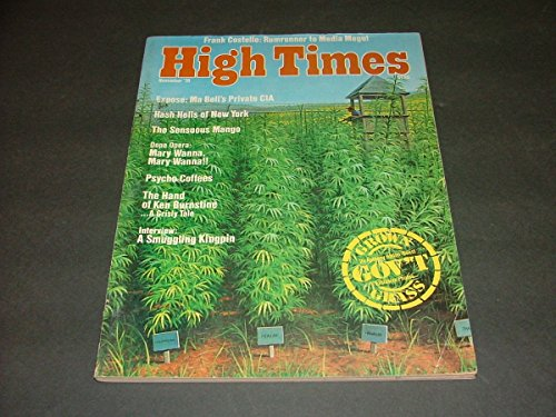 High Times Nov, 1976 Government Grass (Only The Best For Our Public Servants)