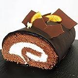濃厚生クリームとチョコレートのショコラクレームロールケーキ