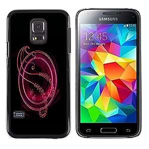 Shell-Star Arte & diseño plástico duro Fundas Cover Cubre Hard Case Cover para Samsung Galaxy S5 Mini / Galaxy S5 Mini Duos / SM-G800 !!!NOT S5 REGULAR! ( Red Abstract Crest )