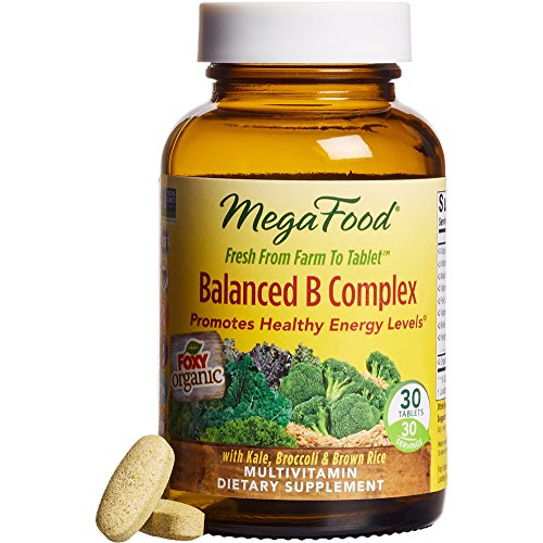 MegaFood Balanced B Complex, Promotes Energy & Health of the Nervous System, 90 Tablets